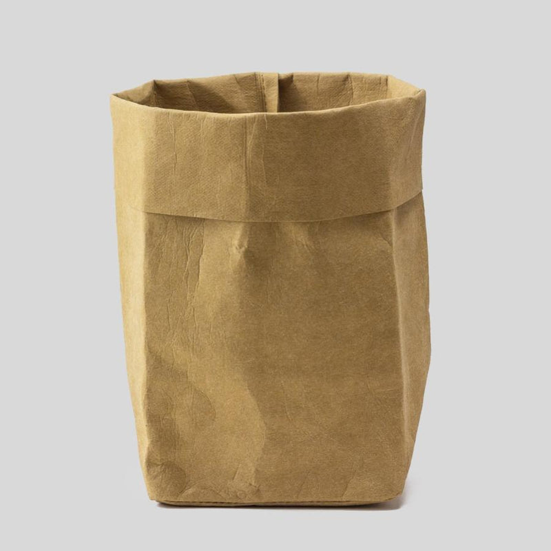 large brown paper plant pot