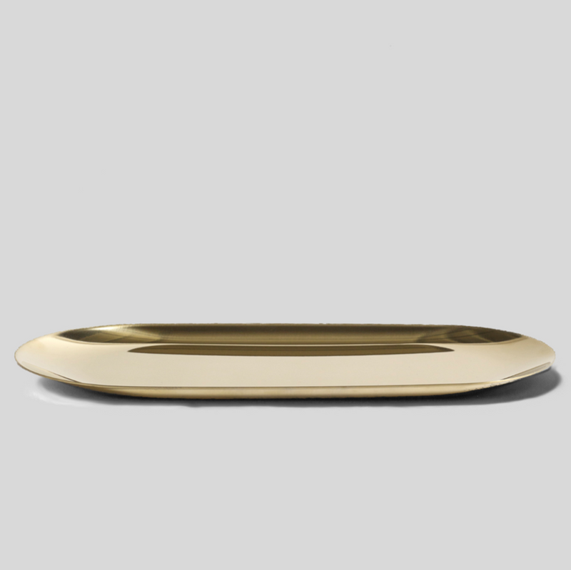 gold lozenge metal tray