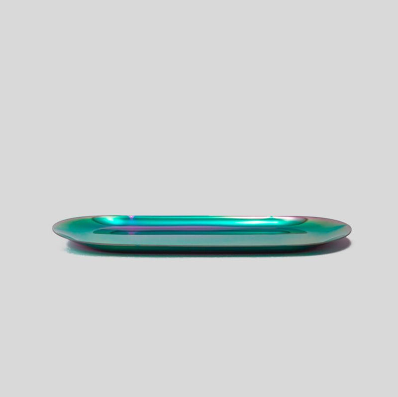 small rainbow oblong metal tray
