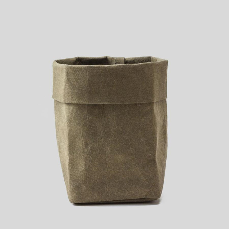 large green paper plant pot