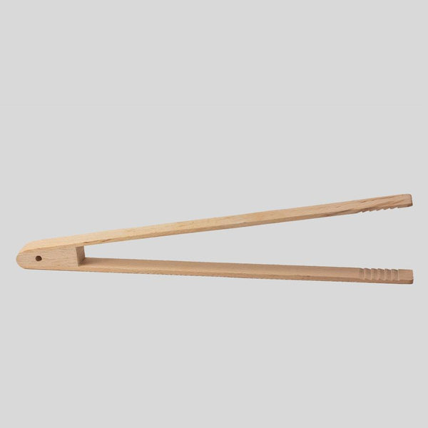 Large wooden succulent tongs