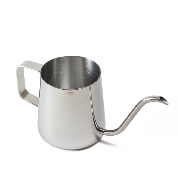 silver stainless steel watering can