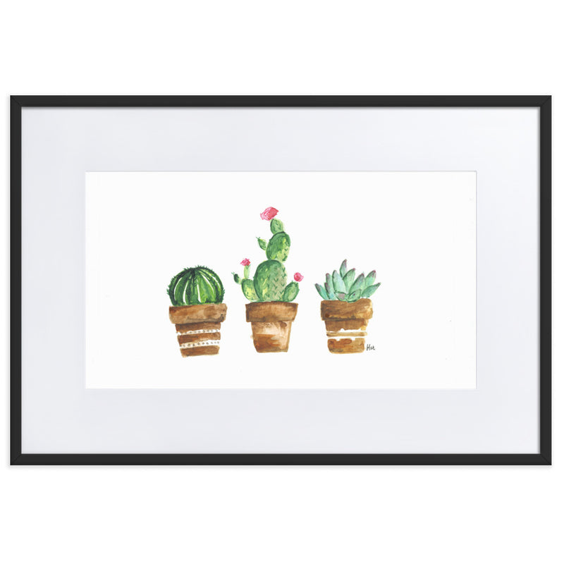 Watercolour Succulent