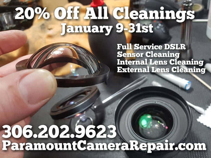 20% Off All Camera & Lens Cleanings For January 2019