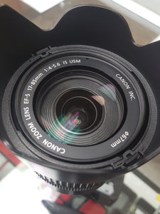 Canon EFS 17-85mm f/4-5.6 IS USM lens - Used Condition 9/10 - Paramount Camera & Repair - Saskatoon Canada Used Cameras Used Lenses Batteries Grips Chargers Studio