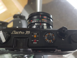 YASHICA ELECTRO 35 Gtn w/ YASHINON-DX 45mm F/1.7, 35mm SLR Film Camera, CLA'd - Paramount Camera & Repair - Saskatoon Canada Used Cameras Used Lenses Batteries Grips Chargers Studio