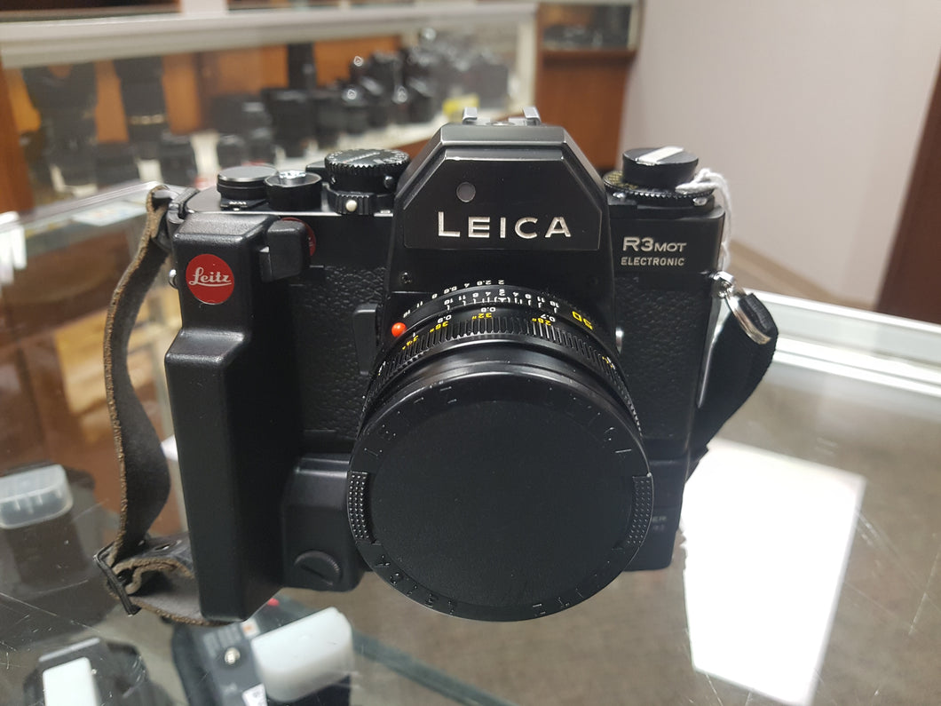 Leica R3 MOT Electric with Leica 50mm F2 lens, CLA'd, Tested and Warrantied - Paramount Camera & Repair - Saskatoon Canada Used Cameras Used Lenses Batteries Grips Chargers Studio