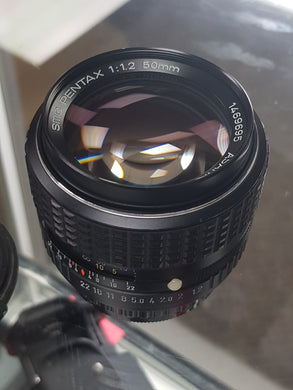 Pentax SMC 50mm F1.2 Rare large aperture prime, Manual film lens, CLA'd