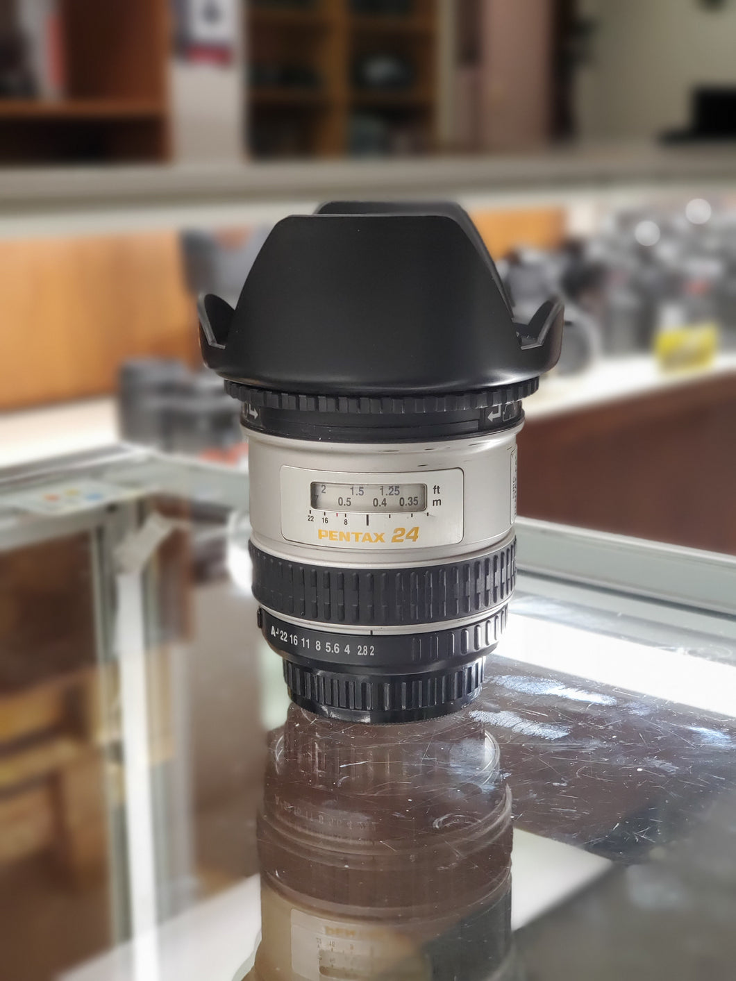 Pentax FA 24mm F2 IF & AL Wideangle Lens and Hood For Pentax K Mount, Rare - Paramount Camera & Repair - Saskatoon Canada Used Cameras Used Lenses Batteries Grips Chargers Studio