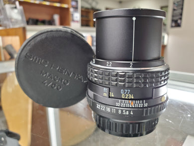 Pentax M 50mm F4 Macro lens, Manual film lens, Fully Restored
