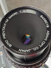 Load image into Gallery viewer, Pentax M 50mm F4 Macro lens, Manual film lens, Fully Restored - Paramount Camera & Repair - Saskatoon Canada Used Cameras Used Lenses Batteries Grips Chargers Studio