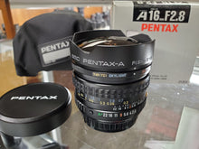 Load image into Gallery viewer, Extremely Rare-Mint Pentax SMC Pentax A 16mm f2.8 Wide Angle Fish-Eye Lens - Paramount Camera & Repair - Saskatoon Canada Used Cameras Used Lenses Batteries Grips Chargers Studio
