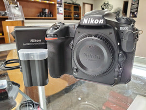 Nikon D500 DSLR, 20.9MP, 4K Video, 10 FPS, ONLY 164 Actuations, 90 Days Warranty - Paramount Camera & Repair - Saskatoon Canada Used Cameras Used Lenses Batteries Grips Chargers Studio