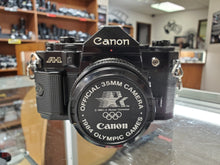 Load image into Gallery viewer, Canon A-1, Black, 35mm Film Camera w/ 50mm F1.8 lens, Fresh CLA, - Paramount Camera & Repair - Saskatoon Canada Used Cameras Used Lenses Batteries Grips Chargers Studio