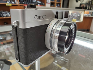 Canon Canonet, 35mm camera, 45mm 1.9 lens, CLA'd, RF Calibrated, Ex Condition - Paramount Camera & Repair - Saskatoon Canada Used Cameras Used Lenses Batteries Grips Chargers Studio