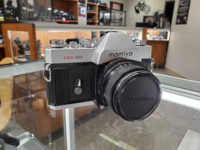 Mamiya DSX 1000 35mm Film Camera w/55mm F1.8 Mamiya Sekor SX Auto lens, CLA'd, New Mirror Foam - Paramount Camera & Repair - Saskatoon Canada Used Cameras Used Lenses Batteries Grips Chargers Studio
