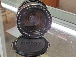 Mamiya Sekor 28mm SX Auto F2.8, manual film lens - Paramount Camera & Repair - Saskatoon Canada Used Cameras Used Lenses Batteries Grips Chargers Studio