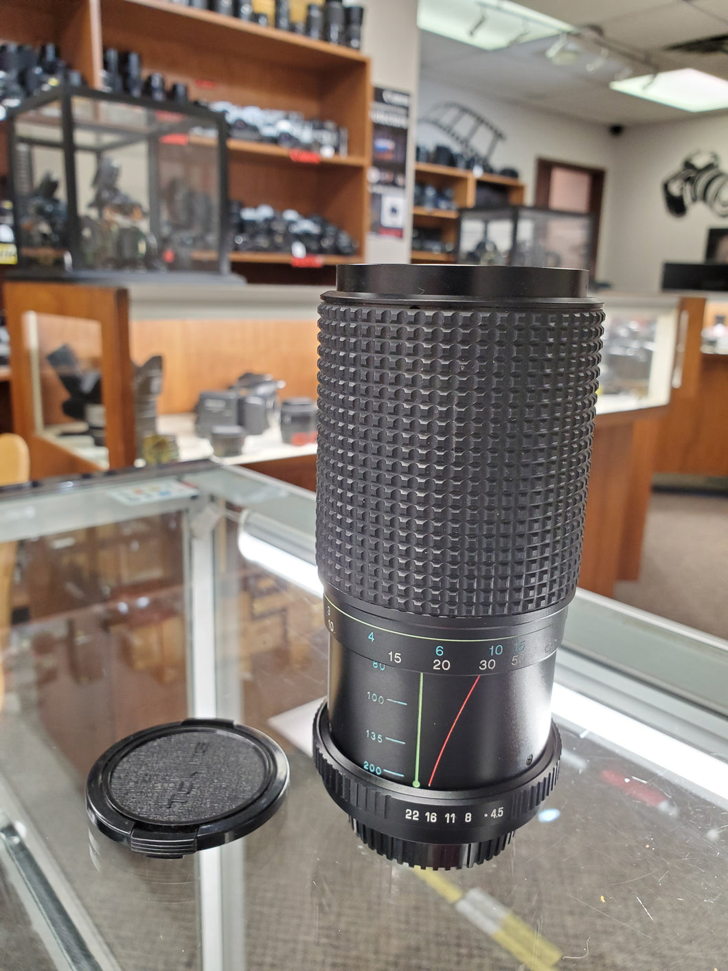 Tokina II Mamiya 80-200mm RMC f4.5, manual film lens - Paramount Camera & Repair - Saskatoon Canada Used Cameras Used Lenses Batteries Grips Chargers Studio