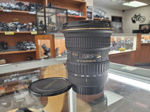 Tokina Promaster 12-24mm f/4 AT-X 124 AF Pro DX Wide Angle Lens - for Canon - Used Condition 9/10 - Paramount Camera & Repair - Saskatoon Canada Used Cameras Used Lenses Batteries Grips Chargers Studio