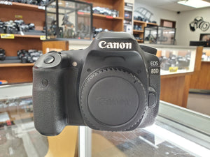 Canon 80D DSLR 24.2MP, 1080P Video, 7FPS - Used Condition: 9/10 - 3 Months Warranty - Paramount Camera & Repair - Saskatoon Canada Used Cameras Used Lenses Batteries Grips Chargers Studio