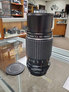 Pentax-M 75-150mm F4, Manual Zoom Lens for Film Cameras - Paramount Camera & Repair - Saskatoon Canada Used Cameras Used Lenses Batteries Grips Chargers Studio