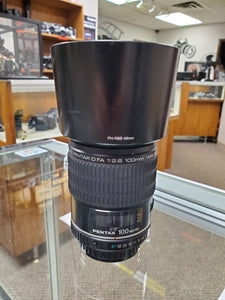 Pentax-D FA 100mm F2.8 Macro lens, Cleaned, Inspected - Paramount Camera & Repair - Saskatoon Canada Used Cameras Used Lenses Batteries Grips Chargers Studio