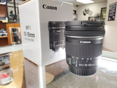 Canon EF-S 10-18mm f/4.5-5.6 IS STM Lens, like new condition - 10/10 - Paramount Camera & Repair
