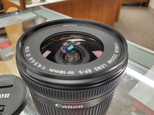 Canon EF-S 10-18mm f/4.5-5.6 IS STM Lens, like new condition - 10/10 - Paramount Camera & Repair - Saskatoon Canada Used Cameras Used Lenses Batteries Grips Chargers Studio