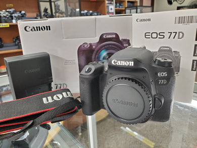 Canon 77D DSLR 24.2MP, 1080P Video, 6FPS - New Condition: 10/10 - 3 Months Warranty - Paramount Camera & Repair