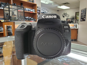 Canon 77D DSLR 24.2MP, 1080P Video, 6FPS - New Condition: 10/10 - 3 Months Warranty - Paramount Camera & Repair - Saskatoon Canada Used Cameras Used Lenses Batteries Grips Chargers Studio