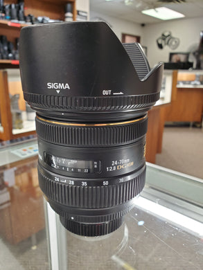 Sigma 24-70mm f/2.8 IF EX DG HSM AF Lens for Nikon - Used Condition 10/10 - Paramount Camera & Repair - Saskatoon Canada Used Cameras Used Lenses Batteries Grips Chargers Studio