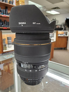 Sigma 24-70mm f/2.8 EX DG Macro AF - Full Frame - Lens for Nikon - Used Condition 7/10 - Paramount Camera & Repair - Saskatoon Canada Used Cameras Used Lenses Batteries Grips Chargers Studio