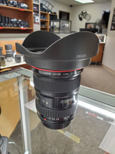 Load image into Gallery viewer, Canon EF 17-40mm f/4L USM Ultra Wide Angle Zoom Lens - Pro Full Frame - Condition 9/10 - Paramount Camera & Repair - Saskatoon Canada Used Cameras Used Lenses Batteries Grips Chargers Studio