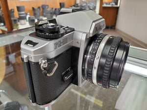 Nikon FG-20, 35mm SLR Film Camera w/50mm 1.8 lens, Fresh Professional CLA, Canada - Paramount Camera & Repair - Saskatoon Canada Used Cameras Used Lenses Batteries Grips Chargers Studio