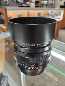 *RARE* Carl Zeiss 50mm F1.4 Planar T*, 1.4/50 CLA'd, for Canon EF Mount, Almost Mint - Paramount Camera & Repair - Saskatoon Canada Used Cameras Used Lenses Batteries Grips Chargers Studio