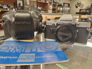 Olympus OM10 SLR 35mm film camera, Professional CLA, New Mirror Foam, Calibrated - Paramount Camera & Repair - Saskatoon Canada Used Cameras Used Lenses Batteries Grips Chargers Studio
