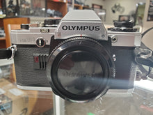Load image into Gallery viewer, Olympus OM10 SLR 35mm film camera, Professional CLA, New Mirror Foam, Calibrated - Paramount Camera & Repair - Saskatoon Canada Used Cameras Used Lenses Batteries Grips Chargers Studio
