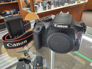 Canon Rebel T6 - 18MP DSLR, WiFi, Battery & Charger, Condition 9.5/10 - Paramount Camera & Repair - Saskatoon Canada Used Cameras Used Lenses Batteries Grips Chargers Studio