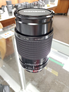 Carsen Olympus 135mm 2.8 , Manual film lens, Excellent Condition, cleaned - Paramount Camera & Repair - Saskatoon Canada Used Cameras Used Lenses Batteries Grips Chargers Studio