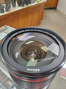 Canon 24-70mm 2.8L II USM lens - Pro Full Frame - Used Condition 10/10 - Paramount Camera & Repair - Saskatoon Canada Used Cameras Used Lenses Batteries Grips Chargers Studio