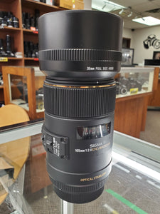 Sigma 105mm F2.8 EX DG OS HSM Macro Lens - Full Frame - Lens for Canon - Condition 10/10 - Paramount Camera & Repair - Saskatoon Canada Used Cameras Used Lenses Batteries Grips Chargers Studio