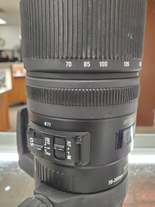Sigma 70-200mm 2.8 OS EX Canon Full Frame Lens  - Used Condition 9/10