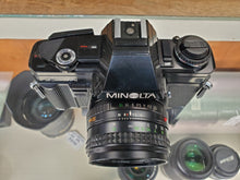 Load image into Gallery viewer, Minolta X-7A, 35mm SLR Film Camera w/ Rokkor 50m 1.7 Lens, Professional CLA, Canada