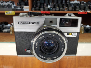 Canon Datematic, 35mm Rangefinder Film Camera w/ 40mm F2.8 Lens, Professional CLA, Canada