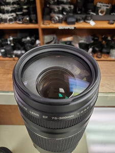 Canon EF 75-300mm f/4.0-5.6 III lens - Used Condition 10/10