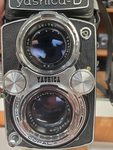 Yashica-D TRL 120 Film Camera w/ 80mm 3.5 Lenses, Serviced & CLA'd, Warranty