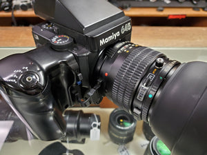 Mamiya 645 Super MF w/Grip, 150mm F3.8 N/L, AE finder, 2 x FilmBacks, CLA'd,Canada