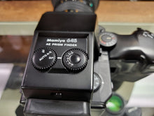 Load image into Gallery viewer, Mamiya 645 Super MF w/Grip, 150mm F3.8 N/L, AE finder, 2 x FilmBacks, CLA'd,Canada