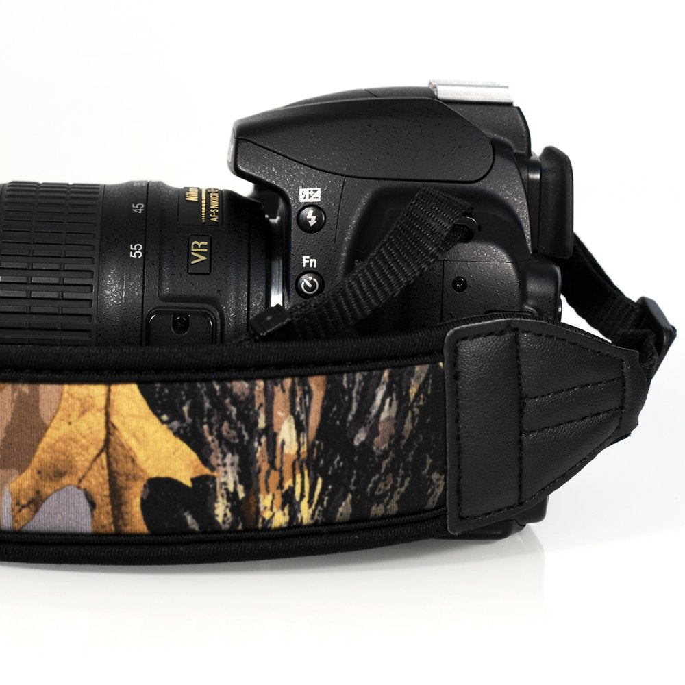 Camo Neoprene Padded Camera Strap - Paramount Camera & Repair - Saskatoon Canada Used Cameras Used Lenses Batteries Grips Chargers Studio
