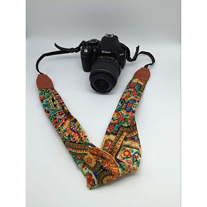Scarf Camera Strap - Yellow Green - 001 - Paramount Camera & Repair - Saskatoon Canada Used Cameras Used Lenses Batteries Grips Chargers Studio